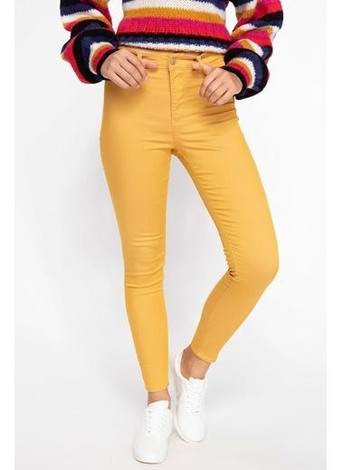 DeFacto Super Skinny Fit Pantolon Sarı